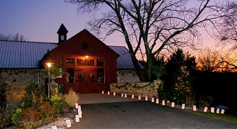 Grace Winery Barn Sunset