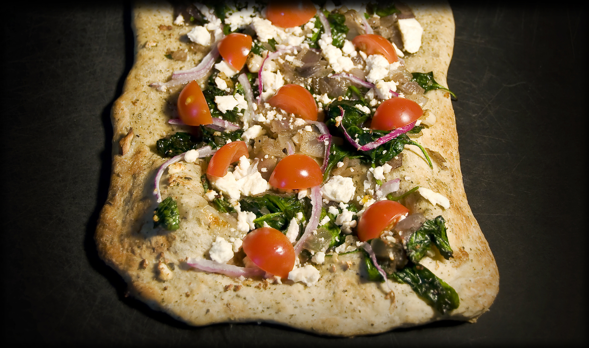 Herbed Spinach and Feta Pizza