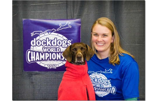 Bailey and Annie at DockDogs Worlds