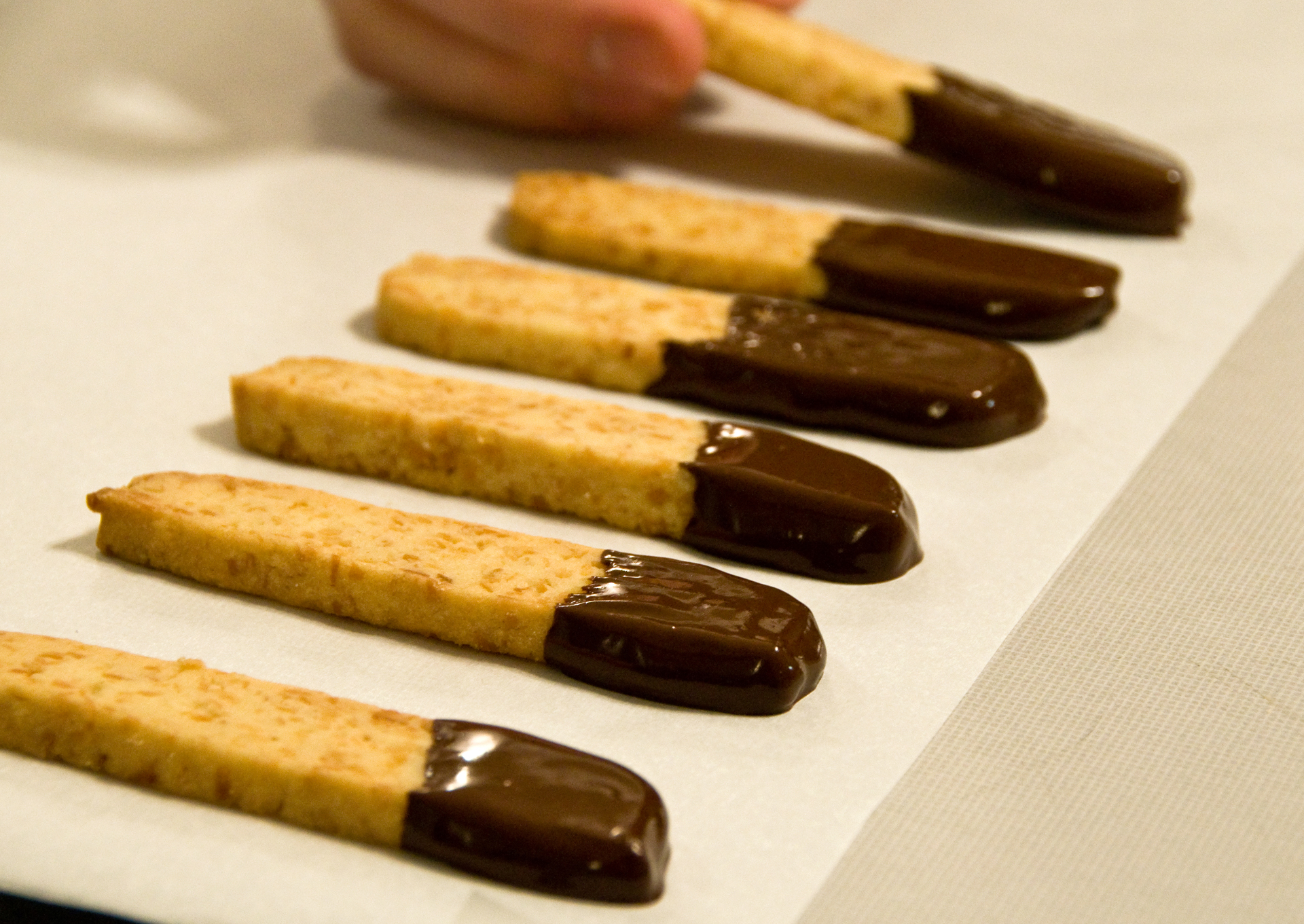Chocolate-Dipped Coconut Cookie Sticks | The Little GSP