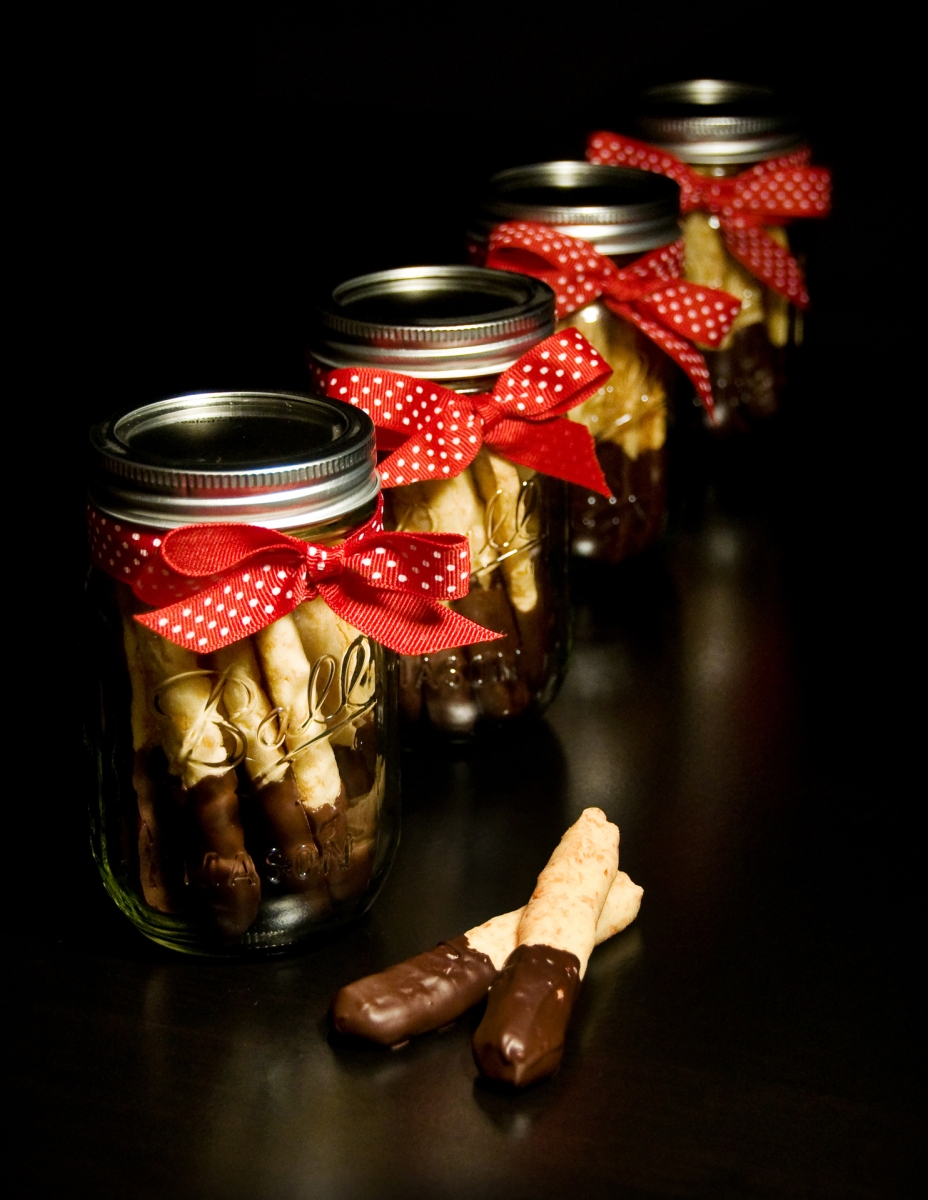Chocolate-Dipped Coconut Sticks