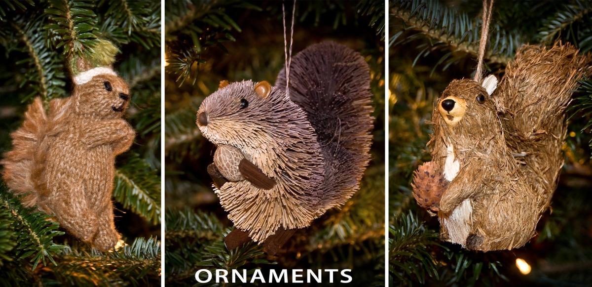 16 - Ornaments - A sampling of squirrels!