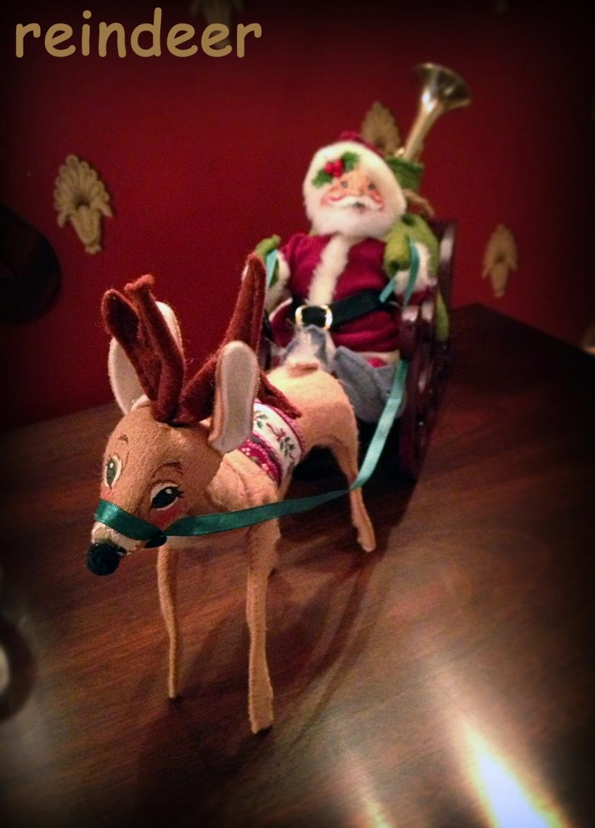 19 - Reindeer - Reindeer pulling Santa's sleigh