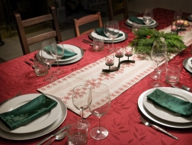 24 - Table set for Christmas Eve dinner