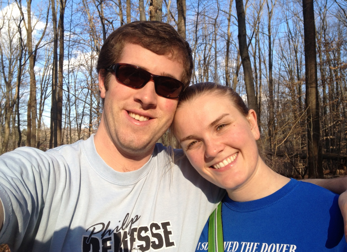 Matt and Annie on the 4.25 mile trail in February