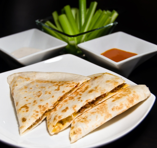 Buffalo Chicken Sausage Quesadillas