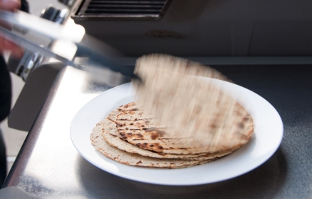 Corn Tortillas, fresh off the grill!