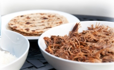 Slow-Cooked Pork and Grilled Tortillas