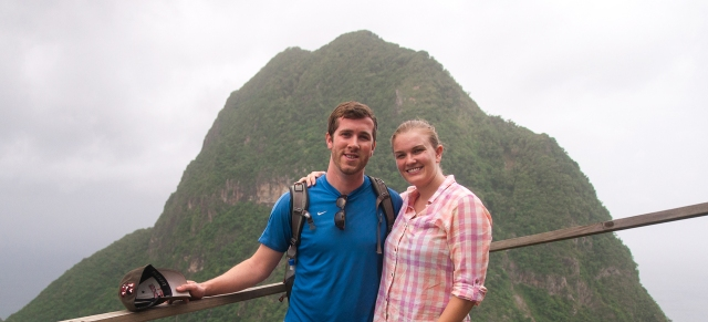 180 Matt and Annie in front of Gros Piton