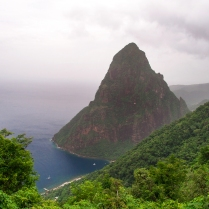 Petit Piton, as seen from Tet Paul Nature Trail