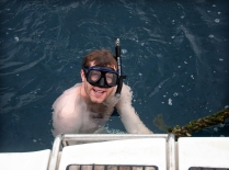 Matt snorkling on our day-long yacht trip