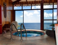 Spa Jacuzzi overlooking the Caribbean