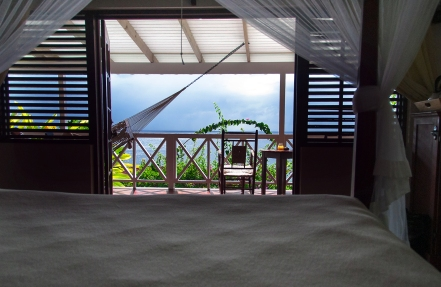 The view from our bedroom at Ti Kaye