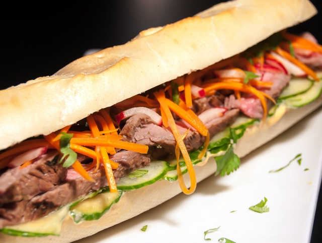 Banh Mi Sandwich Close Up