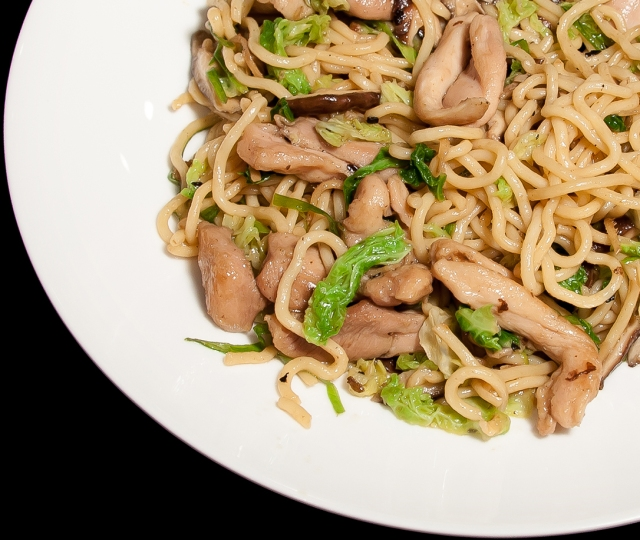Chicken Lo Mein Close Up