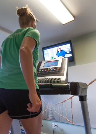 Treadmill and TV
