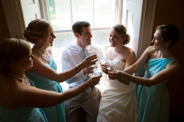 Toasting with the Bridesmaids!