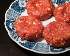 Raw Lamb Burgers