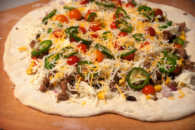 Uncooked Mexican Pizza