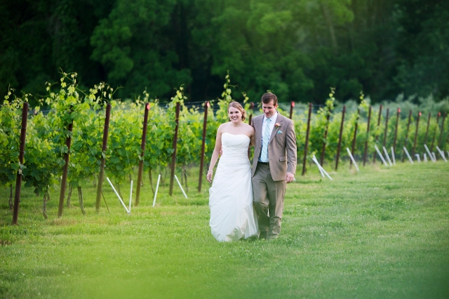 Annie and Matt in the Vineyard