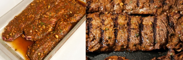 Marinating and Grilled Zacatecas Skirt Steak