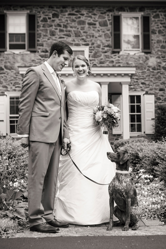 Wedding Photo Wednesday!  Matt, Annie and Bailey (Photo by Melissa Hassey Photography - www.melissahassey.com)