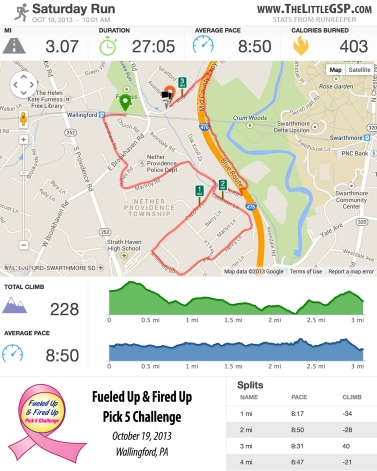 Fueled Up 5K Stats from Runkeeper