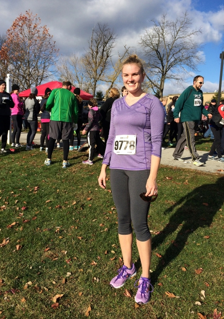 Annie after the Turkey Trot