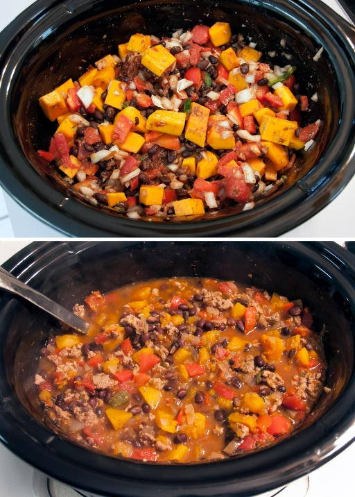 272 Butternut Turkey Chili before and after