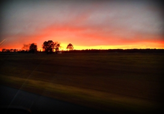 Eastern Shore sunset on our drive down