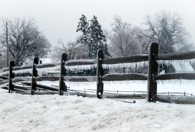 Ice Fence Rails