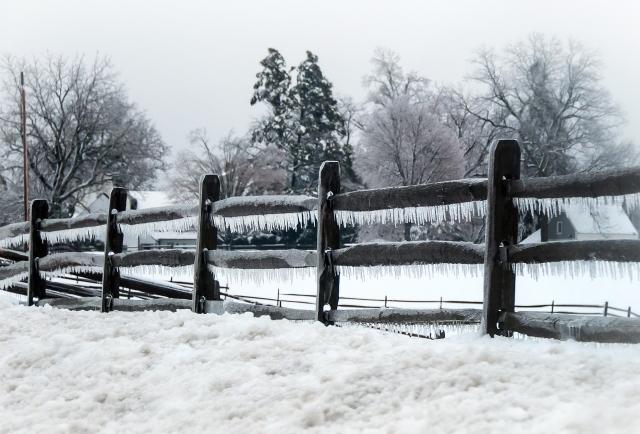 Ice Fence Rails