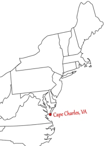 That's where Cape Charles is