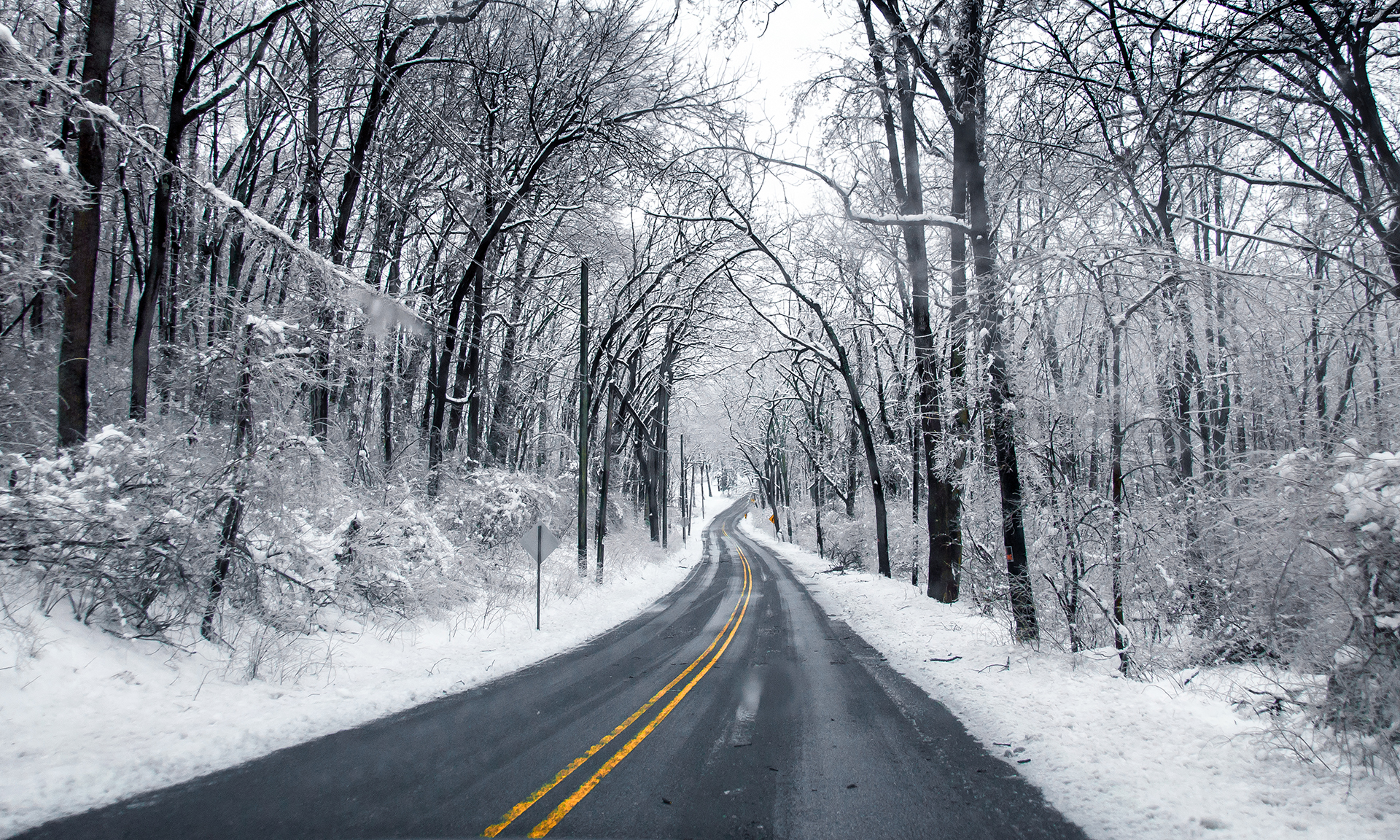 Image result for snowy road
