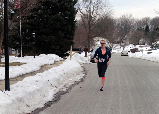 Finishing the 5 mile