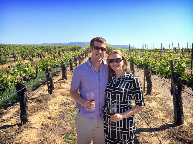 Enjoying ourselves in the vineyards!