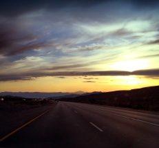 Sunset on I-15