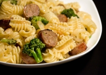 Sausage and Pasta w/ Garlicky Broccoli