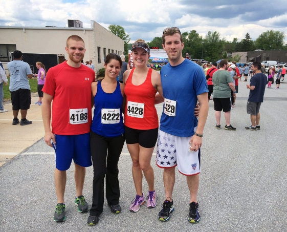 Red, White and Brew after the 5K