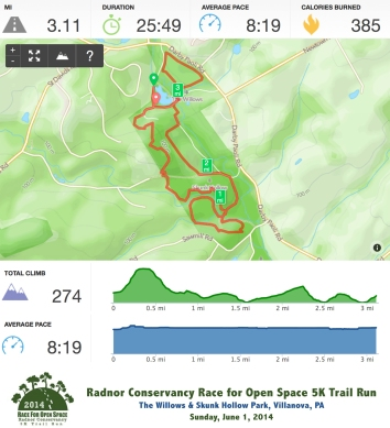 Pieced together Runkeeper stats from Radnor