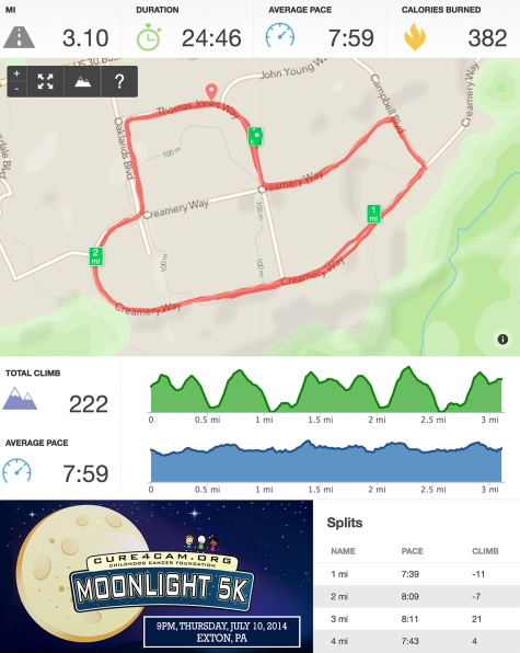 Cam's Moonlight 5k Runkeeper