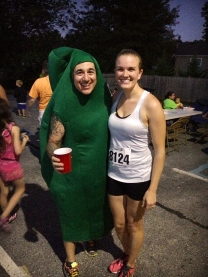 Me with The Pickle after the race