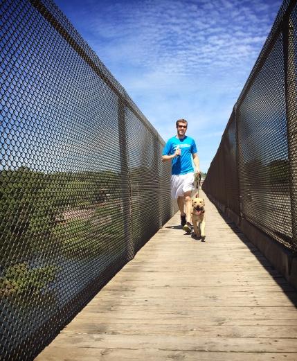 Matt and Ganon crossing the river