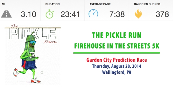 "Pickle Run ""stats"" (No timing devices were allowed during the race)"