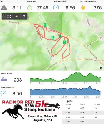 Radnor Red Steeplechase Runkeeper Stats