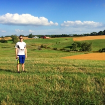 Matt on our post Run A Muck hike