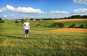 Matt on our post Run A Muck hike
