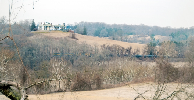 Looking across the valley to Granogue Estate (February 2015)