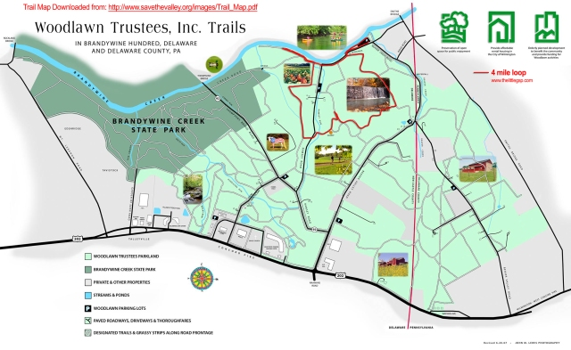 Woodlawn Trail Map 4 miles