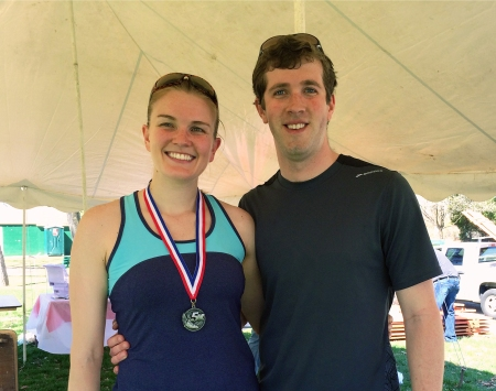 Annie and Matt after the Child Guidance 5K